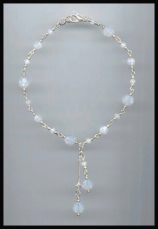 White Opal Crystal Anklet