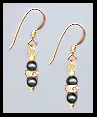 Mini Black Crystal Pearl Earrings