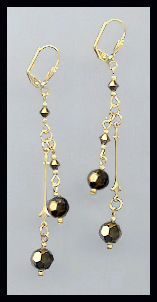 Gold Dorado Gold Crystal Drop Earrings