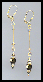 Gold Dorado Gold Crystal Rondelle Earrings