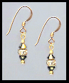 Mini Gold Dorado Gold Crystal Rondelle Earrings