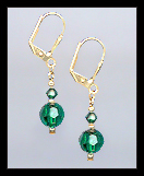 Small Emerald Green Earrings