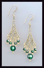 Emerald Green Vintage Earrings