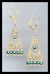 Deco Emerald Green Earrings