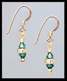 Mini Emerald Green Earrings