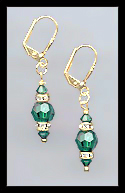 Simple Emerald Green Earrings
