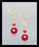 Small Cherry Red Earrings