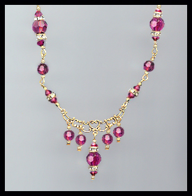 Swarovski Fuchsia Pink Crystal Necklace