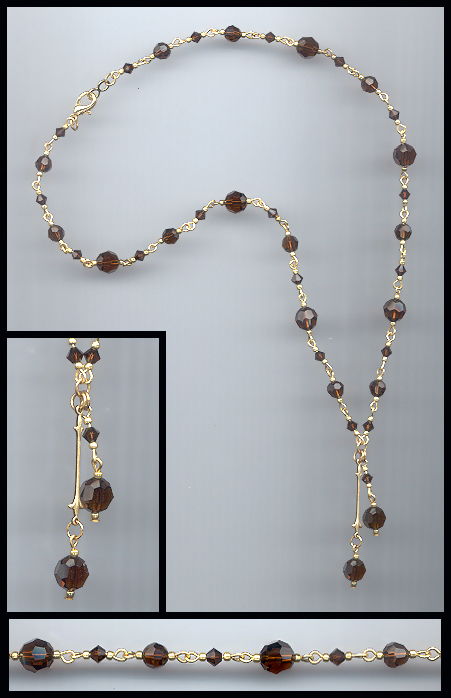 Mocca Brown Crystal Necklace