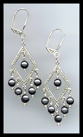 Swarovski Black Pearl Earrings