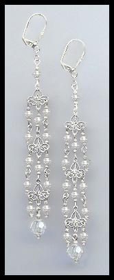"4"" Clear Crystal Chandelier Earrings Earrings"