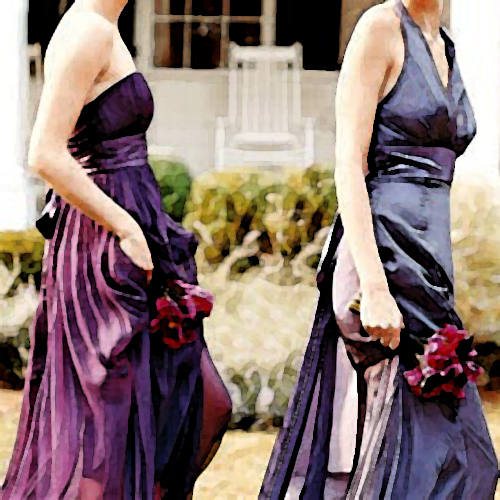 amethyst and silver bridesmaid jewelry