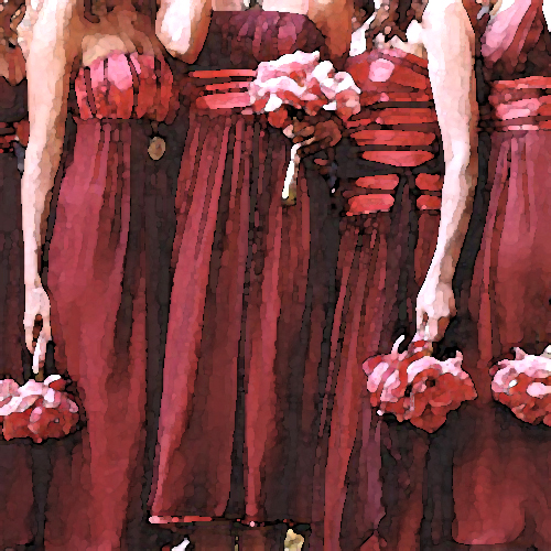 ruby red and silver bridesmaid jewelry